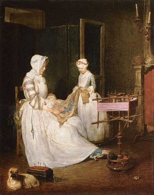 Jean_Siméon_Chardin_-_The_Hard-working_Mother_-_WGA04767 (2)